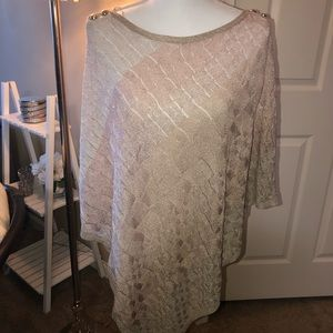 WHBM Shades of Pink Poncho